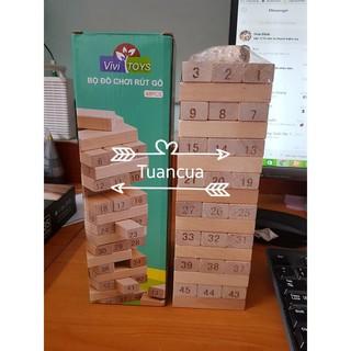 [GIẢM GIÁ] đồ chơi rút gỗ 48 miếng nặng 1kg