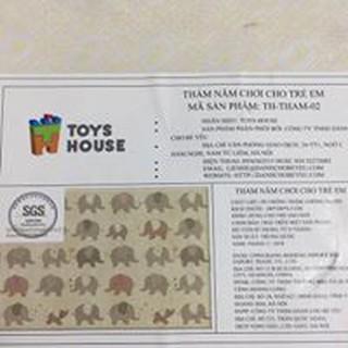 Thảm chống thấm 2 mặt TOYS HOUSE – Hàng chính hãng
