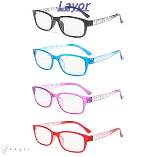 💜LAYOR💜 With Diopter Reading Glasses High-definition Spectacle Frames Presbyopia Eyeglasses Reduces Eye Strain +1.0~+4.0 PC AC Resin Lens Hyperopia Eyewear/Multicolor