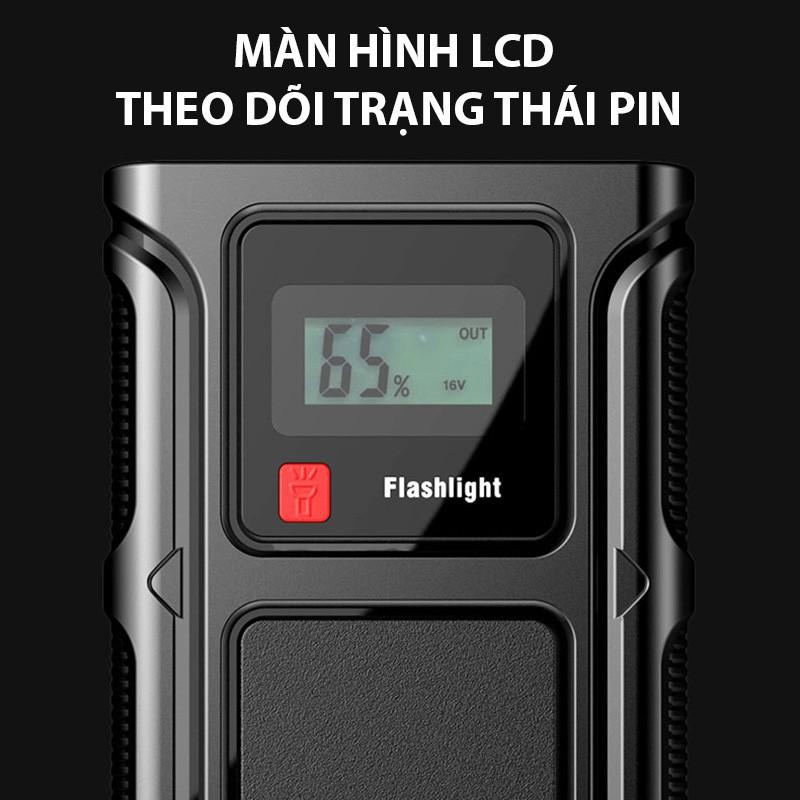 nk032 Bộ Kích Nổ Ô Tô KHẨN CẤP Đa Năng tích hợp Pin Sạc Dự Phòng và Đèn Pin BLY-BT8 dùng cho HẦU HẾT các dòng xe hơi