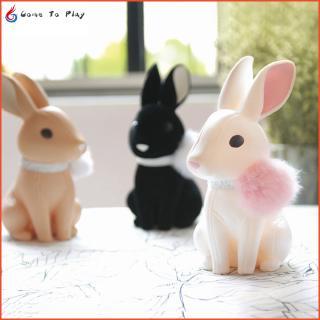 Cute Creative Rabbit Piggy Bank PVC Leather Cartoon Coin Saving Box Bunny Figure Money Deposit Box