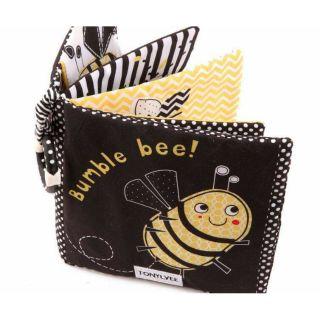 Sách vải đen trắng Bumble bee