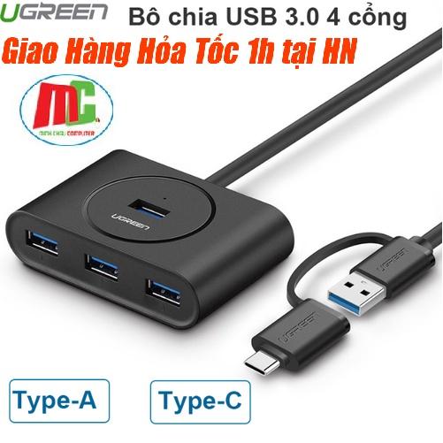Bảng giá Bộ chia cổng USB 3.0 / USB type C sang 4 cổng USB 3.0 dài 1m UGREEN 40850 Phong Vũ