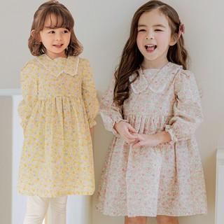 Váy hoa nhí cổ pha ren Bebezoo 2 màu