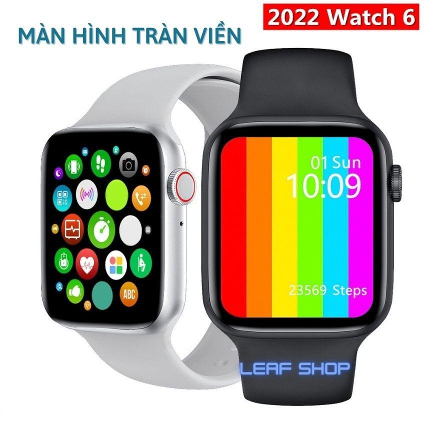 Đồng Hồ Thông Minh Watch 6 W6 W26 Series 6 Màn Hình Tràn Viền ,Chống nước IP68, Thay Dây Kết Nối Bluetooth