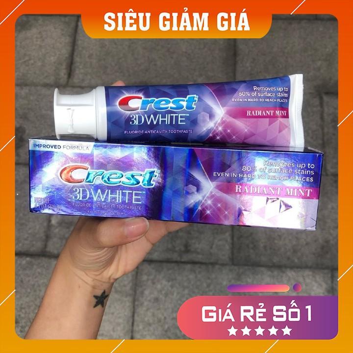 [Hàng Mỹ] Kem Đánh Răng Crest 3D Radiant Mint 116gr date 2023