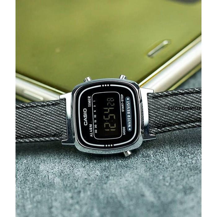 Đồng hồ nữ Casio LA670WL-1BDF Chính hãng - Chống nước - Dây Vải Cao Cấp