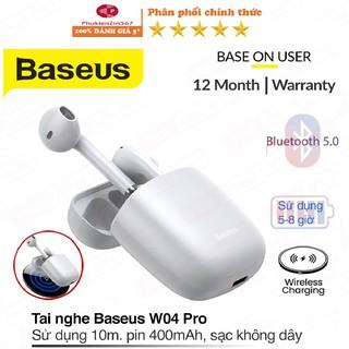 Tai nghe không dây baseus W04 Pro bản sạc không dây chính hãng- Tai nghe Bluetooth baseus encok tws w04 pro sạc nhanh