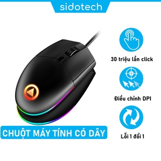 Chuột máy tính chơi game SIDOTECH YINDIAO G3 1600DPI LED Gaming Esport Design văn phòng - Hàng Chính Hãng thumbnail