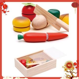 Đồ chơi cắt bánh trái cây bằng gỗ cho bé