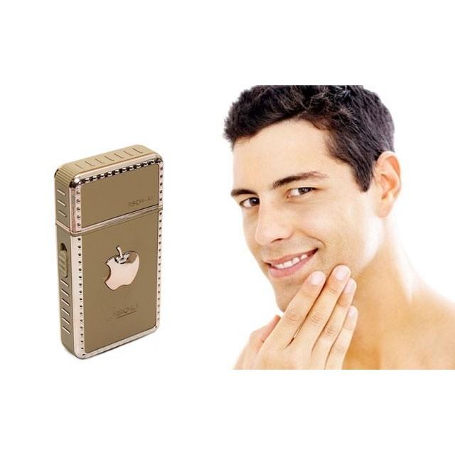 [CỰC RẺ]  Dao Cạo Râu Tự Động Kiểu Dáng Iphone Vàng