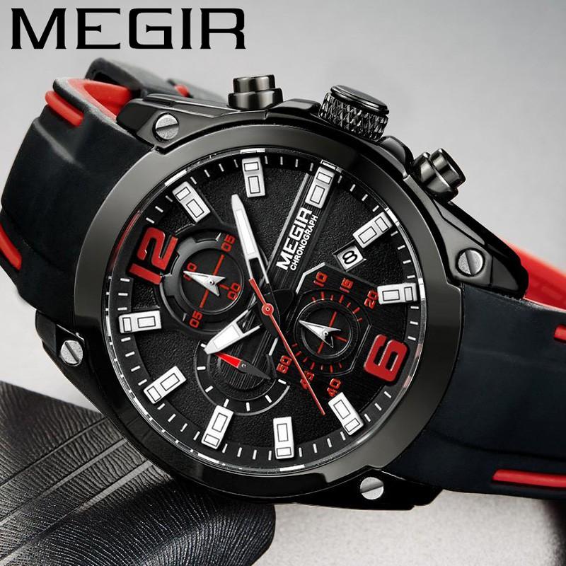 Đồng Hồ Nam Megir KT2063 Black Chính Hãng 2019 NEW Bảo Hành 12 Tháng Top Brand Luxury Hàng Nhập HongKong