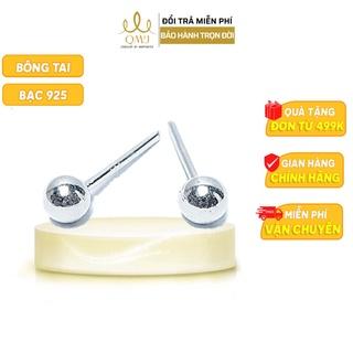 Bông tai bạc QMJ Vệ nữ - bóng tròn đơn giản, cá tính thiết kế viên bi nhỏ- Q108 thumbnail