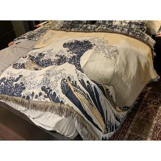 Thảm treo tường họa tiết vintage chăn trải shopha chống bụi, phong cách boho vintage đáng yêu