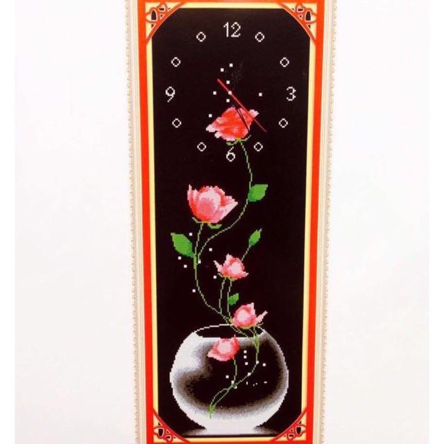 Tranh thêu chữ thập đồng hồ hoa hồng dây - 2765813 , 317129449 , 322_317129449 , 100000 , Tranh-theu-chu-thap-dong-ho-hoa-hong-day-322_317129449 , shopee.vn , Tranh thêu chữ thập đồng hồ hoa hồng dây
