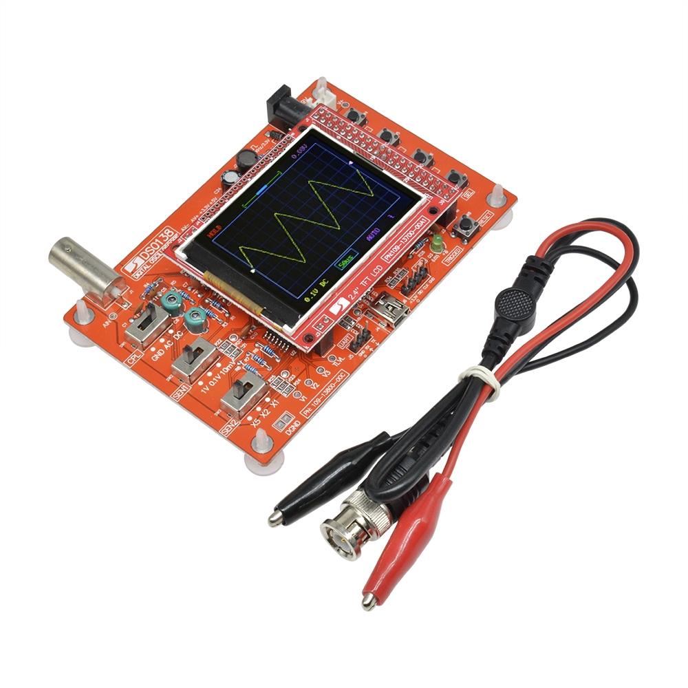 """Mô đun phát hiện dao động sóng DSO138 1Msps màn hình TFT 2.4"""" có đầu dò"""
