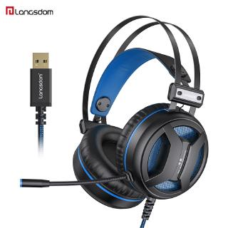 Langsdom G2 USB 7.1 Gaming Headset Noise Cancelling with Microphone LED Light