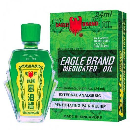 [𝓣𝓱𝓮60𝓼] Dầu Gió Con ó Xanh Hàng Mỹ Eagle Brand 24ml