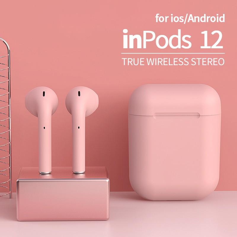 Tai nghe không dây TWS i12 nguyên bản Bluetooth HiFi Thể thao Earbud đầy màu sắc