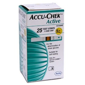 Que thử đường huyêt ACCU CHEK Active 25 que