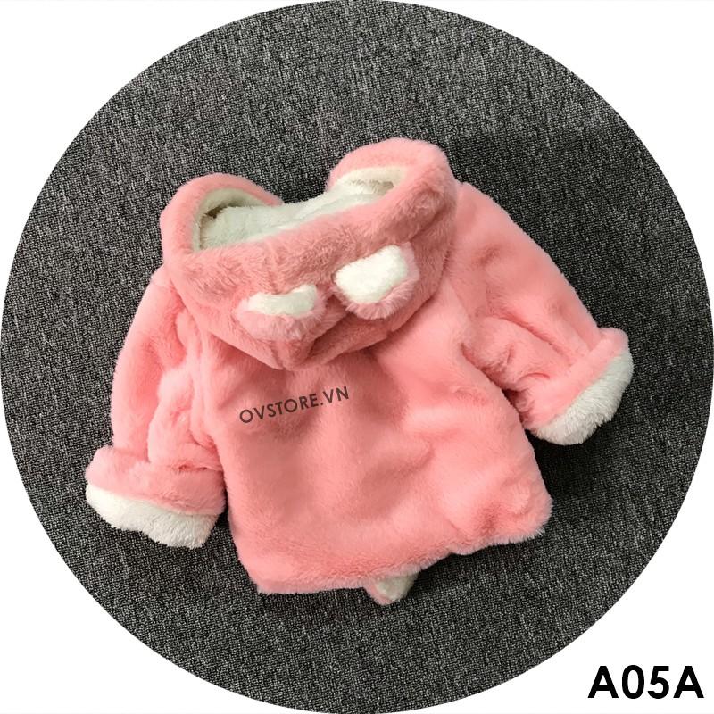 [SIÊU RẺ] Áo Khoác Lông Mịn Hình Gấu Dễ Thương Cho Bé A05 (Có bảng size)
