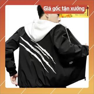 [ƯNG HẾT Ý!!!] Áo Khoác Dù Nam cao cấp 3 vết sọc màu đen