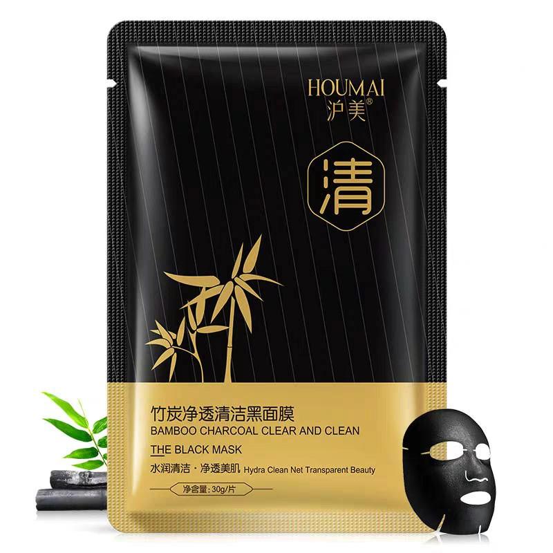 Houmai – Mặt nạ đen Than tre làm sạch da dưỡng ẩm