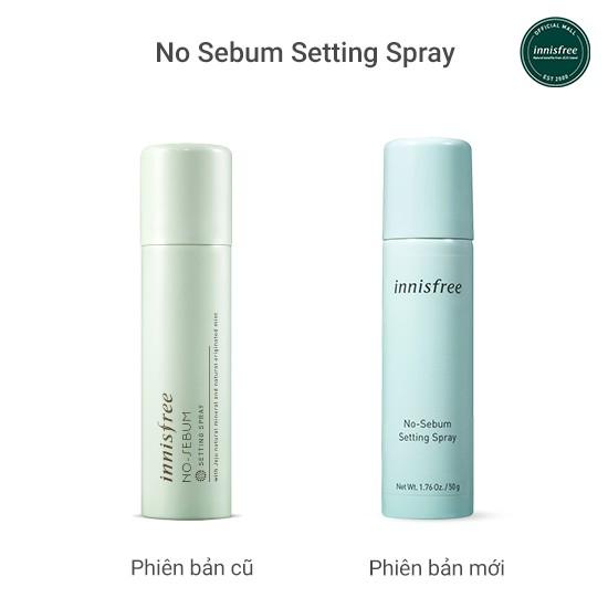 FMCG20 -20K ĐH179K]Nước xịt kiềm dầu khóa lớp trang điểm innisfree No Sebum  Setting Spray 50ml   Shopee Việt Nam