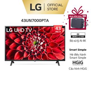[Mã 158ELSALE hoàn 7% xu đơn 300K] Smart UHD Tivi LG 43 inch 4K 43UN7000PTA – Model 2020 – Miễn phí lắp đặt