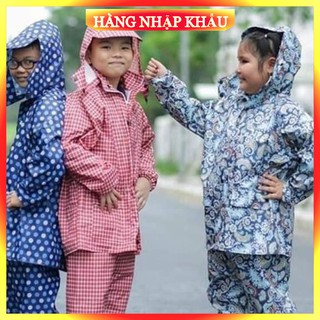 [Hàng Loại 1_FreeShip] Áo mưa bộ trẻ em vải dù họa tiết ngộ nghĩnh cho bé, hàng Việt Nam chất lượng cao cấp
