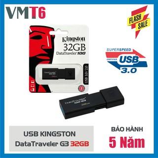 USB Kingston 3.0 DataTraveler 100G3 32GB - Hàng nhập khẩu bảo hành 5 năm !