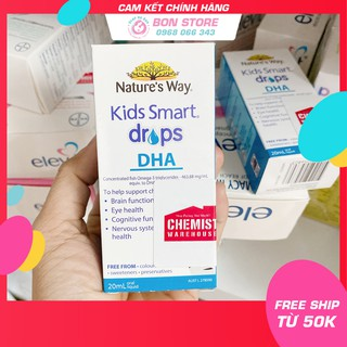 [Tem đỏ CHEMIST] DHA Nature s Way Kids Smart dạng giọt Drops 20ml - Xuất xứ Úc thumbnail