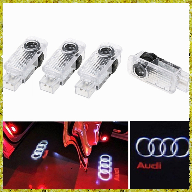 4 Pcs LED Logo Light Shadow Projector Car Door LED Light for Audi BMW