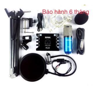 COMBO MICRO THU ÂM B900 SOUND CARD XOX K10 CHÂN MÀNG LỌC DÂY MA2 Tặng Tai nghe