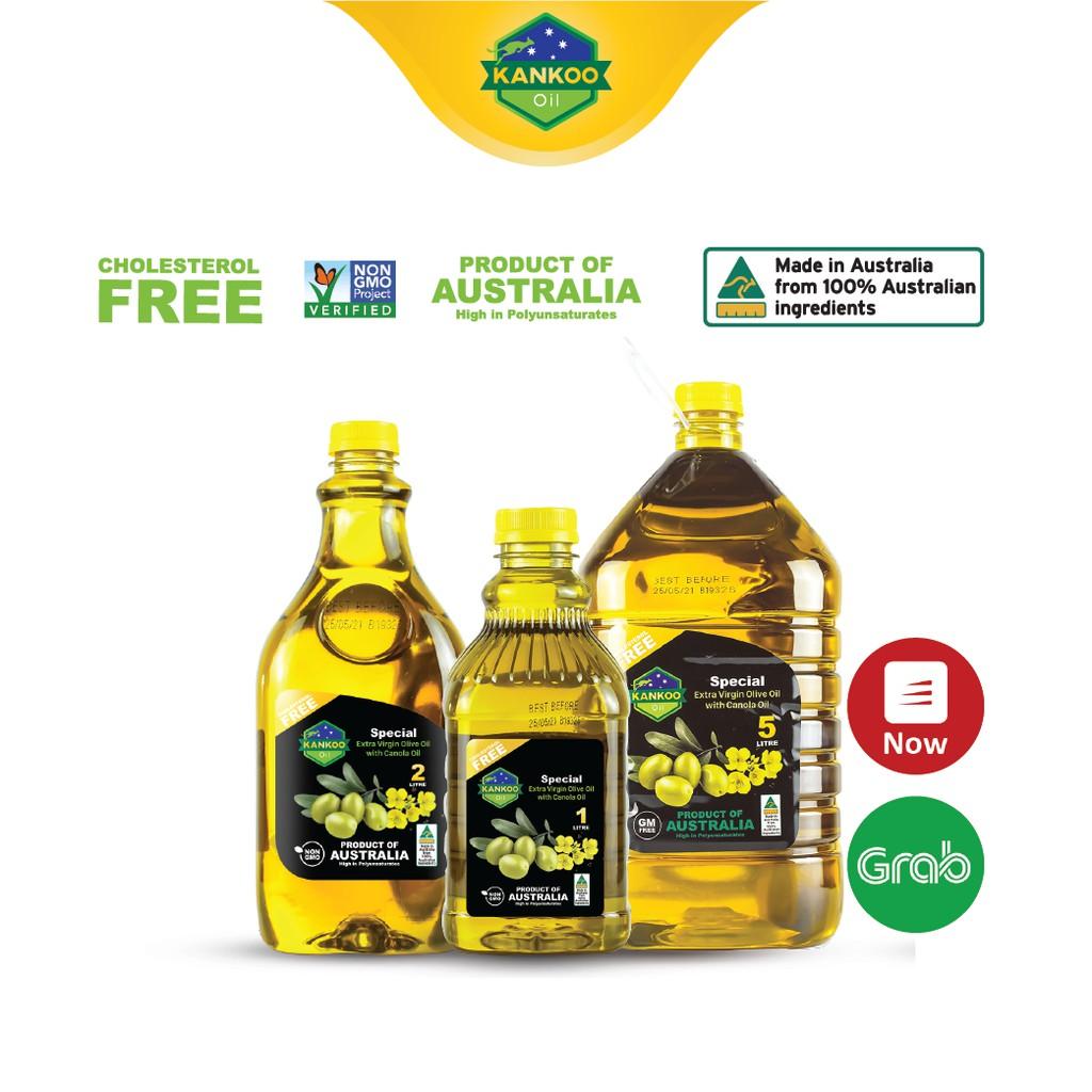 Combo 3 loại (8 lít) dầu ăn Oliu hạt cải chuẩn Úc Kankoo - Dầu ăn chuyên các món chiên xào, trộn salad, ăn dặm rất tốt