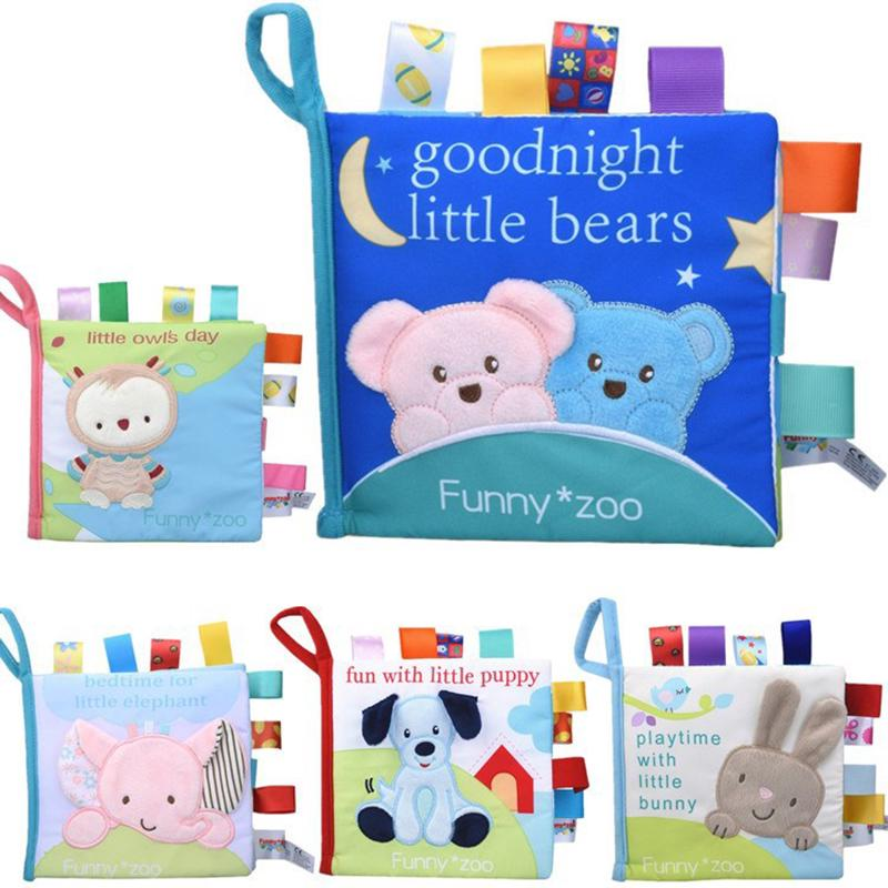 Baby Toys Soft Cloth Books Rustle Sound Infant Educational Newborn Learning
