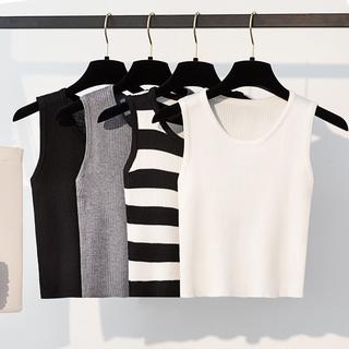 Áo Sweater Không Tay Dáng Ôm Lưng Cao Thời Trang Du Lịch