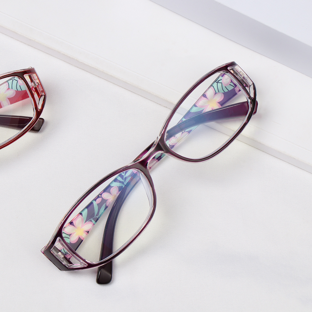 🌸EUTUS🌸 Women Anti-Blue Light Eyeglasses Comfortable Eye Protection Reading Glasses Portable Elegant Fashion Flowers Vintage Ultra Light Frame/Multicolor