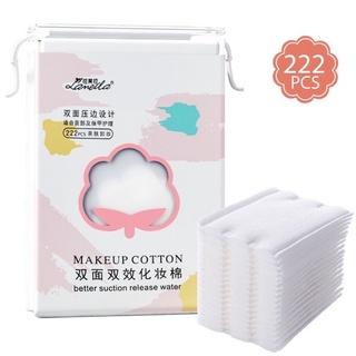 Bông Tẩy Trang Lameila, Bông Tẩy Trang 222 Miếng mẫu mới túi rút tiện lợi 3 lớp dày dặn làm sạch da thumbnail