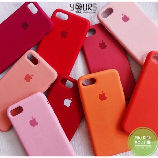 Ốp chống bẩn dễ lau chùi logo quả táo lót nỉ chống sốc iphone 6 đến xs max