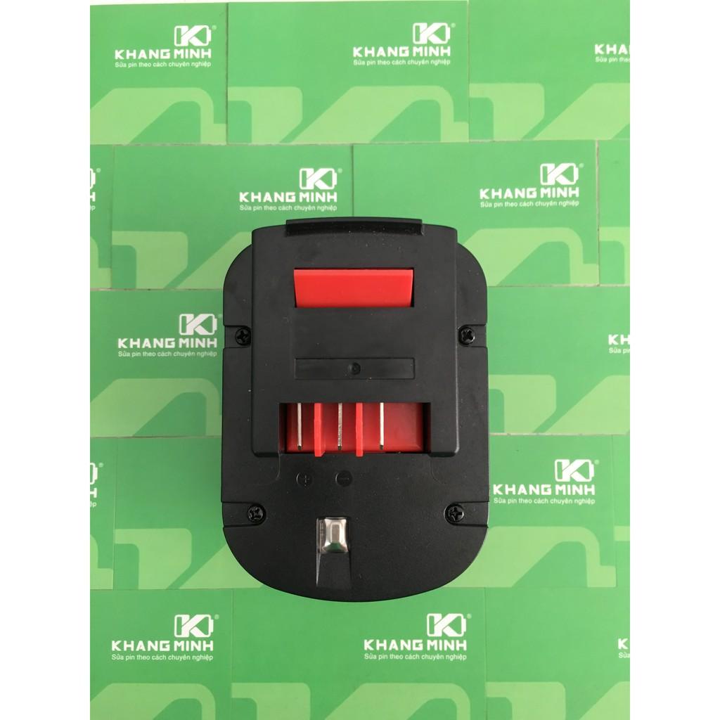 KM Vỏ pin máy Black & Decker 12V. Có thể dùng cell Ni-Cd 1.2V hoặc cell Li-ion 18650 3.7V
