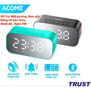 Loa Bluetooth 5W Màn Hình LED - Hỗ Trợ Mặt gương, Xem giờ, Đồng hồ báo thức, Nhiệt độ , Nghe FM-ACOME A5-CHÍNH HÃNG