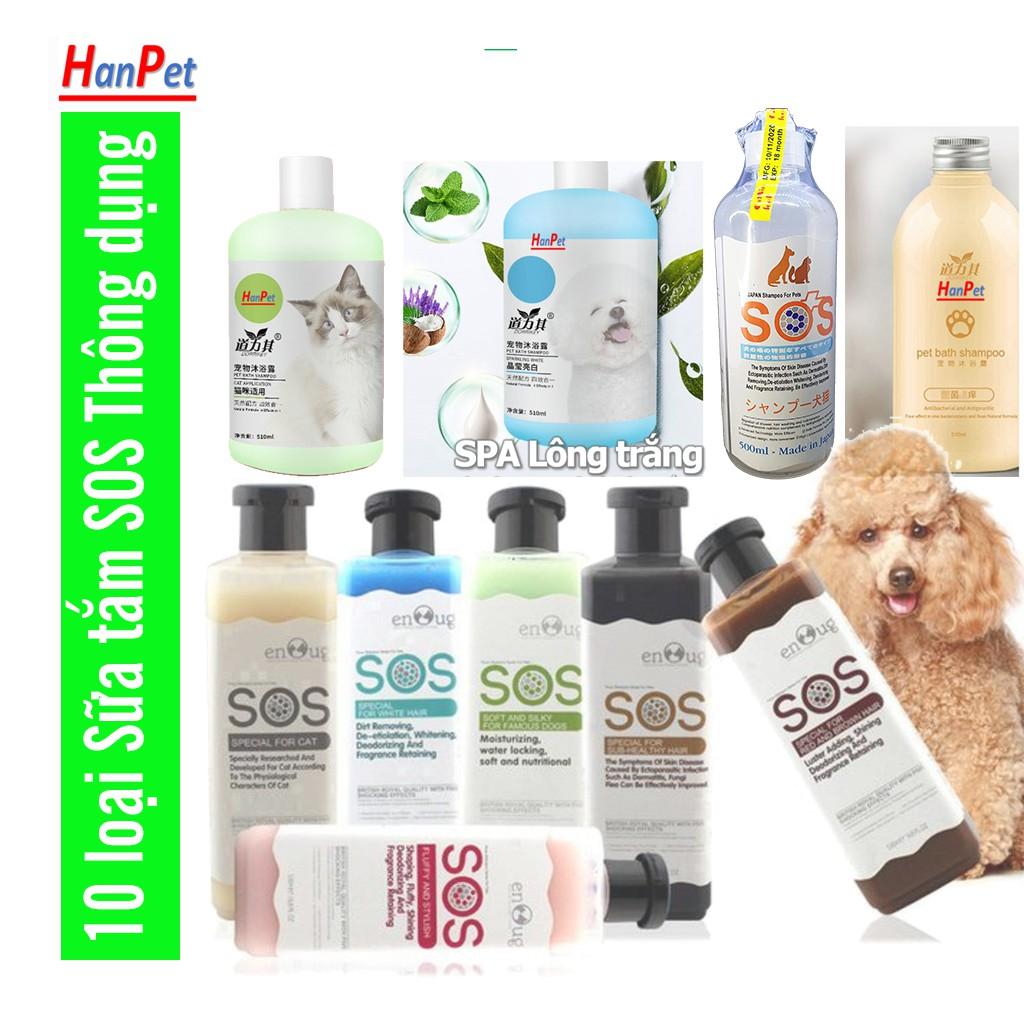 Hanpet.GV- Sữa Tắm SOS- chai 530ml cho chó mèo (- 366a) dầu tắm cho mèo chó mọi lứa tuổi