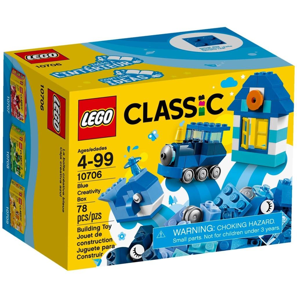 Hộp lắp ráp Classic màu xanh da trời - LEGO Classic 10706 Blue Creative Box