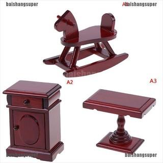 [baishangsuper]Dollhouse Miniature Wooden Room Furniture 1:12 Accessories Toys for Children