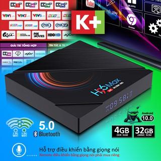 Android tivi box 16G/32G ram 2G/4G độ phân giải 4K tìm kiếm giọng nói bluetooth băng tần kép bảo hành 1năm H96MAX tv box