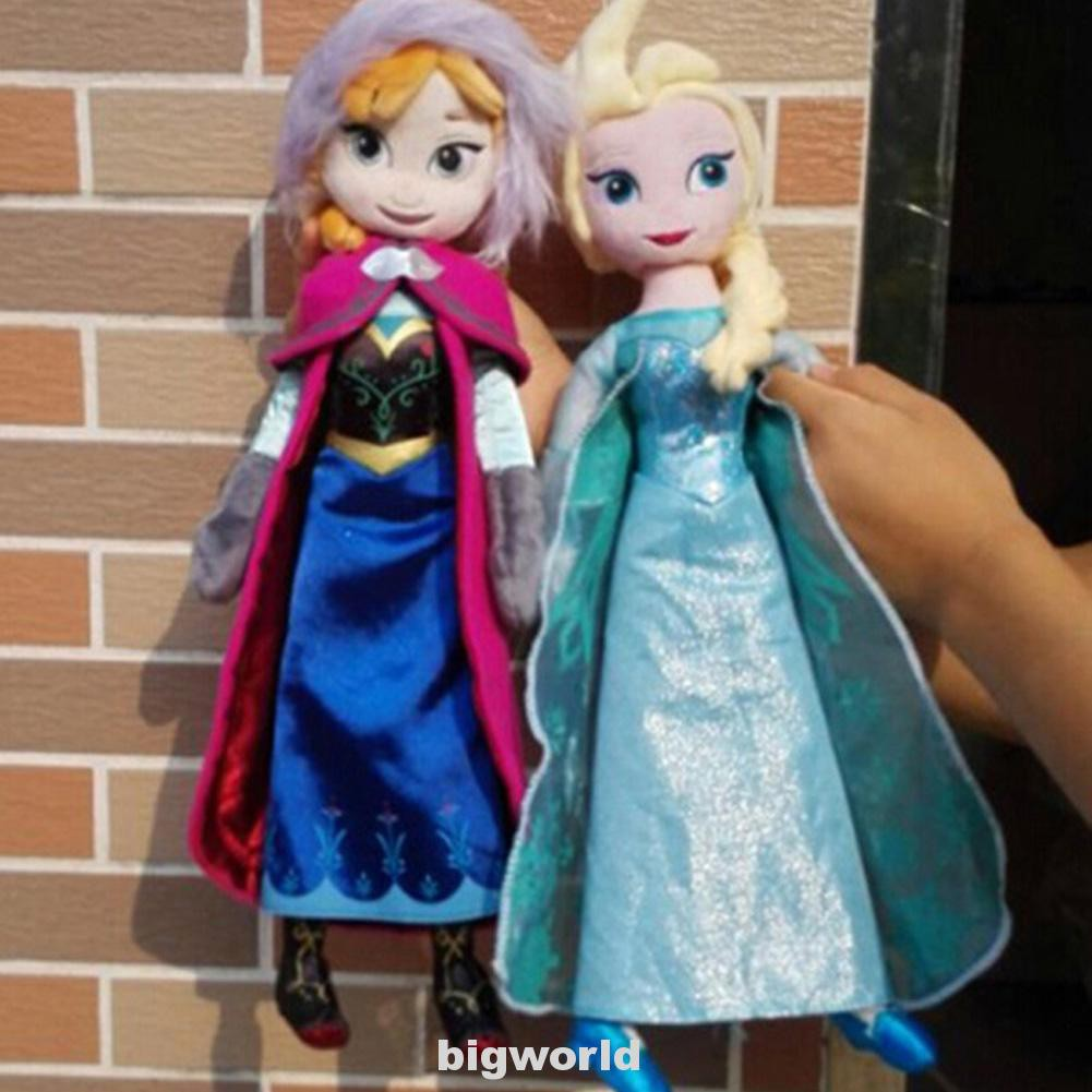 40cm Frozen Princess Elsa And Anna Cute Gifts Plush Stuffed Birthday Pelucia