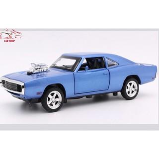 Xe mô hình siêu tốc độ Dodge Fast & Furious 7 màu xanh
