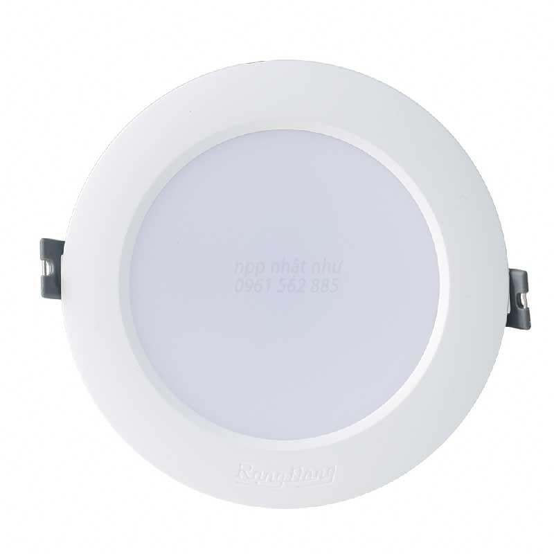 Đèn LED Âm trần Downlight Rạng Đông 90/9w Viền Bạc