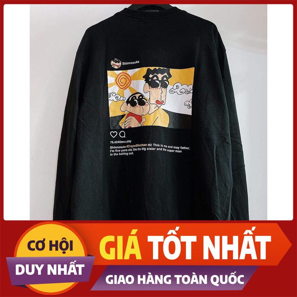 [Sale Off 50%] Áo Sweater CU SHIN CẬU BÉ BÚT CHÌ Unisex ( 2 màu ) , áo thun, quần short